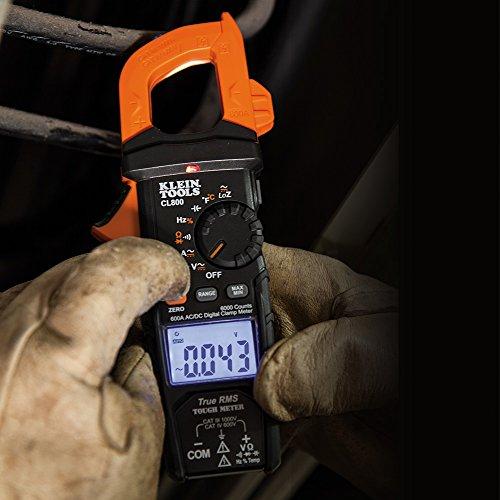 Klein Tools - Pinza amperimétrica AC automático, multicolor, CL800