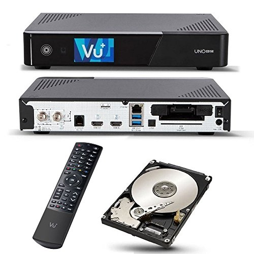 VU+ Uno 4K SE 1x DVB-S2 FBC Twin Tuner 2TB HDD Linux Receiver UHD 2160p