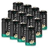 Enegitech CR2 - Confezione da 12 batterie al litio CR2 3 V 800 mAh con protezione EPTC DLC...