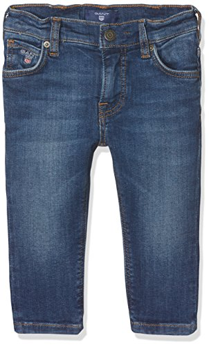 GANT Baby-Jungen Denim Jeans, Blau (Mid Blue Worn In), 3 Jahre (Herstellergröße: 9836M)