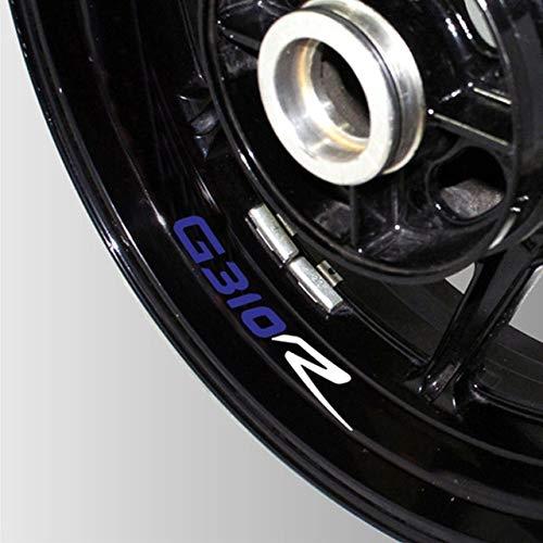 Luyangyund Neumático de la Motocicleta Etiqueta Reflectante Reflexivo Rueda de Rueda Logo Logo DE LA VECTORIA Moto Accesorios Decorativos para BMW G310R (Color : 07)