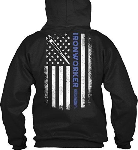Ironworker - Ironworker Sweatshirt - 50% Cotton, 50% Polyester - Gildan 8Oz Heavy Blend Hoodie Pullover (X Large) Black