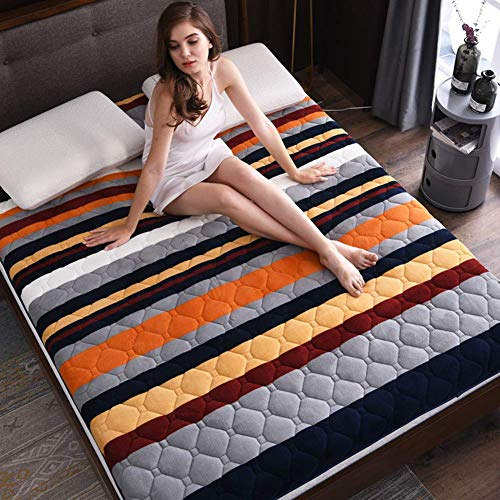 Soft Not-Slip Thicken Japanese Futon Mattress, Japanese Floor Mattress Folding Floor Mat Portable Camping Mattress Kids Sleeping Pad Floor Lounger Couch Bed, Thickness:5cm,B,120x190cm