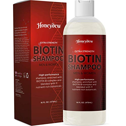Biotin Extra Strength Volume Shampoo - Potent Keratin and Biotin Shampoo for Thinning Hair Moisturizer for Men and Women - Biotin Coconut Oil Zinc Pyrithione Shampoo for Fine Hair and Dry Scalp Care