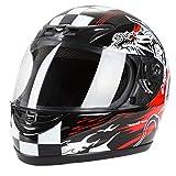 Cartman Motorcycle Modular Full Face Helmet, Flip up Visor Shield DOT Approved, Large