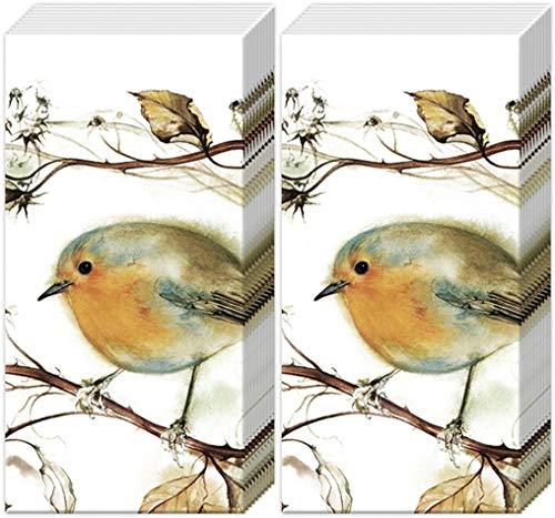 20 Taschentücher (2x 10) Blaumeise in Natur | Vogel | Wald | Tiere