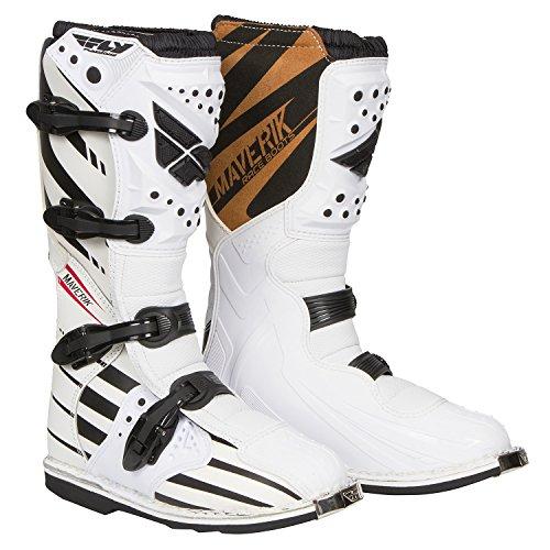 Fly Racing Motocross-Stiefel Maverik Weiß Gr. 45