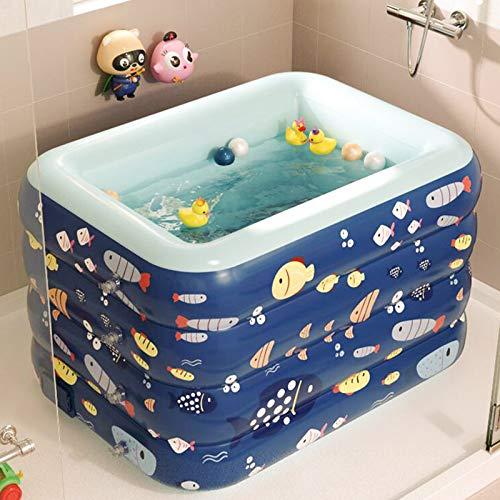 JYJYES Piscina inflable para bebés, piscina infantil, piscina para niños, piscina de tamaño completo, piscina para niños, adultos, bebés, niños pequeños, patio trasero, al aire libre