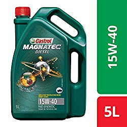 Castrol MAGNATEC Diesel 15W-40 API SN Part-Synthetic Engine Oil for Diesel Cars (5 L),Castrol,3382385