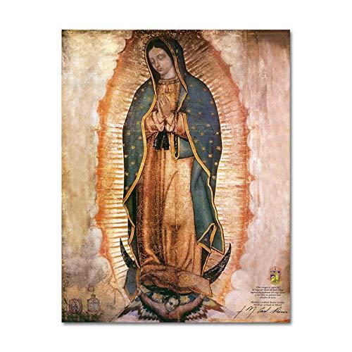 LYHNB El día de la Virgen de Guadalupe en México Impresiones en Lienzo Arte de Pared Cuadro de...