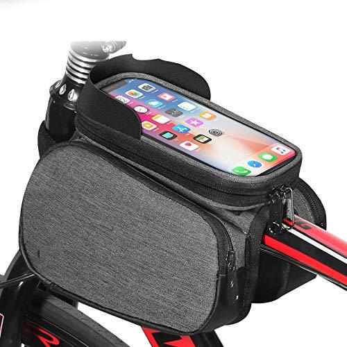 Fiets bovenste buis zak mountainbike voortas waterdichte grote capaciteit touch screen mobiele telefoon tas rijden apparatuur
