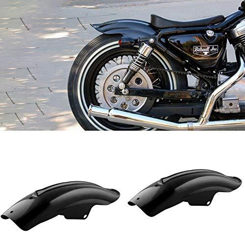 HYJYWY Motocicleta Negro Volver Posterior Defensa de los Guardabarros de Accesorio for Bobber Racer Accesorios de la Motocicleta Piezas de unión Universal Marcos