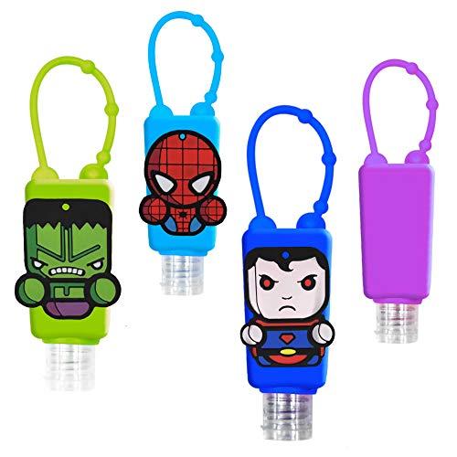 GUSTO Händedesinfektionsmittel Flasche Silikon Schlüsselbund (Superheroes)