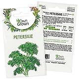 Petersilie Samen: Premium Petersilie Saatgut für ca. 600 Petersilie Pflanzen – für Anzucht als Petersilie im Topf, Balkon und Garten – Kräuter Samen für Petersilie kraus – Kräutersamen von OwnGrown