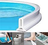Ducha presa Barrera de agua de silicona Cuarto húmedo Cuarto de baño piso Tira de sellado de la puerta La presa de la ducha evita el desbordamiento del agua, Tira impermeable autoadhesiva (80cm)