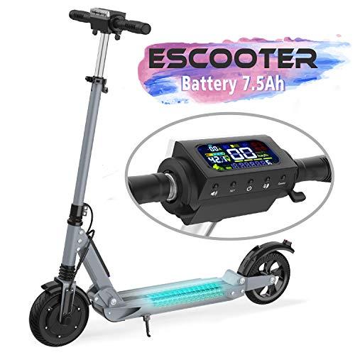 COLORWAY Scooter Patinete Eléctrico Plegable Ruedas de 8 Pulgadas con Batería...
