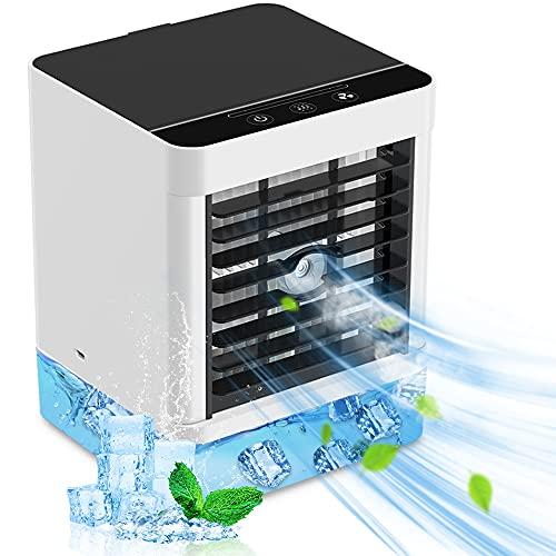Mini Condizionatore Portatile Senza Tubo, 4-in-1 Raffrescatore Ventilatore Umidificatore Depuratore, Raffreddatore D'aria, con 3 Velocità, Per Ufficio Domestico