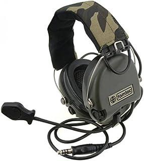 Tomtac Airsoft SORDIN Headset Mic Boom Radio MSA Design Woodland/OD Green