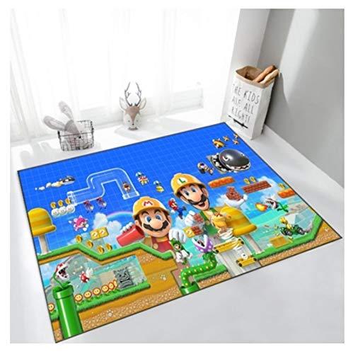 WallDiy Alfombra de Puerta Larga de Super Mario Bros, Entrada al Aire Libre, Almohadilla de Bienvenida, Alfombra Suave, Felpudo, Alfombra de baño Interior, alfombras de Cocina