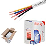 Bulk 22/4 Stranded Conductor Alarm Cable 500ft Fire/Security Burglar Station Wire Security (Unshielded (UTP), 22/4, Stranded, 500ft)