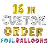 HongYong Letter Balloons - Any Custom Phrase 16' inch Alphabet Lettere e Numeri Foil Mylar Balloon | Crea Il Tuo Banner Nome / Parola | d'oro (Alfabeto Inglese: D)