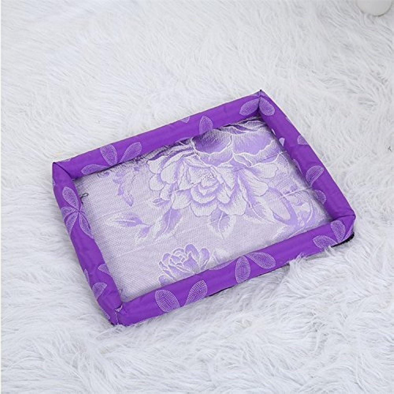 Dog Mat Pet Products Summer Summer Mat Pet Nest Dog Litter Cat Pad Purple Printed Ice Sheet L