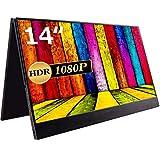 cocopar 14インチ/フルHD/モバイルモニター/モバイルディスプレイ/IPSパネル/USB Type-C/HDMI/HDR対応/カバー付 (14.1)