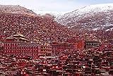 LZQZJD 1500 Piezas de Rompecabezas para Adultos Danba Tibetan Village Winter Jigsaw Puzzle Game es Muy Adecuado para Juegos educativos de relajación y meditación