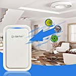 Clarifion - negative ion generator with highest output (1 pack) filterless mobile ionizer & travel air purifier, plug in… 12 for use in: bedrooms, corridors, bathrooms, living rooms, staircases, and other spaces/rooms. Removes bacteria & viruses | reduces allergens | relieves congestion | chemical free | helps reduce asthma | cleaner air eliminates dust, smog, smoke, allergens, pet dander, & bacteria to help keep air fresh & clean | smart design with led indication