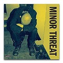 """WPQL Albumcover-Poster """"Minor Threat"""", 40 x 40 cm, Gelb"""