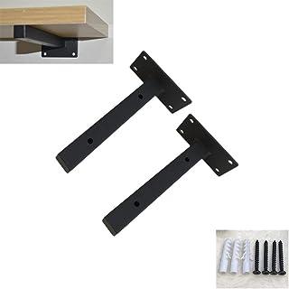 Metal Industrial Modern Shelf Bracket,Wall Mounted Floating Shelves,Triangle Iron Shelf Brackets,Right Angle Bracket,Inclu...
