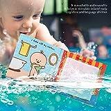 Voluxe Libro de Tela, Libro de Tela Infantil 2 Tipos para bebés para educación temprana para Juguetes de baño(Bath Cloth Book)