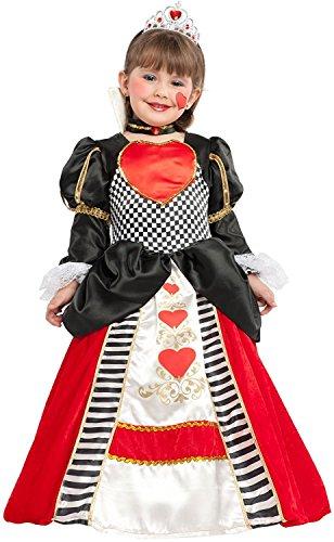 chiber Disfraces Disfraz de Dama de Corazones para Niña (Talla 8)