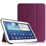 Fintie Housse pour Tablette Samsung Galaxy Tab 3 Tablette 10.1 Pouces - Ultra-Mince et Léger PU Cuir Etui Cover Case avec Support et la Fonction Sommeil/Réveil Automatique, Pourpre