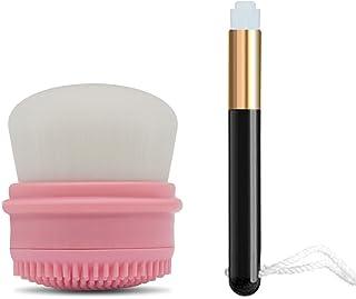 KIYALE 洗顔ブラシ、小鼻 ブラシ、2点ケアセット、角質除去、黒ずみ、毛穴クレンジング