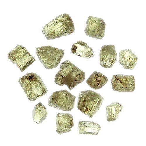 Naturosphère - Minéraux et fossiles C25 - Pierres brutes Cristaux d'apatite Verte - Qualité Extra - 7 à 10 mm - Lot de 3
