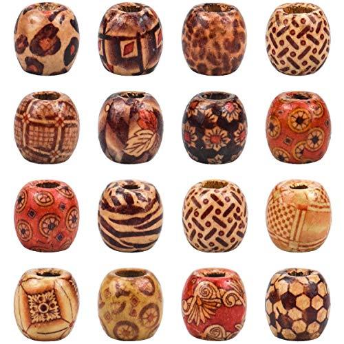 Bolas de Madera 500 g (Aprox.330 Piezas) Abalorios para Manualidades, Cuentas de...