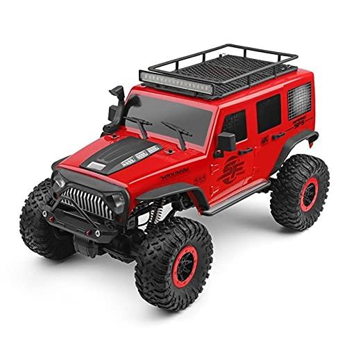 MUMUMI RC-Auto, 1/10 Skala 4WD Hochgeschwindigkeits-RC-LKW, 4 × 4 2.4G Klettern All-Terrain-Stoßdämpfung RC-Auto USB-Aufladung Große Reifen RC-Fahrzeug, Kindergeburtstagsfernbedienung Spielzeug Auto G