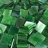 1/2' Forest Green Stained Glass Mosaic Tiles