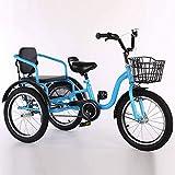 Triciclo de Adultos Triciclo Adulto Adult Tricycle Bicicletas de tres ruedas para niños niñas, triciclos 16 pulgadas 3 ruedas bicicleta bicicleta bicicleta bicicleta bicicleta cómoda dos plazas conven