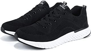 AUCDK Men Mesh Trainer Black Size 38 Lightweight Casual Sports Running Shoes Man Breathable Sneakers