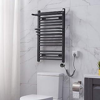 Termostático Toalla eléctrica Toallero Barra de baño Baño Radiador Rack de Secado Inteligente Secador Negro Blanco 400 * 650