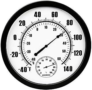 hkwshop Higrómetro para Interior Termómetro para Exteriores Patio al Aire Libre Termómetro de Pared Grande e higrómetro Re...