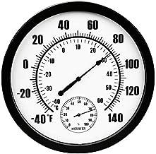 Xu Yuan Jia-Shop Termómetro Higrómetro Termómetro para Exteriores Patio al Aire Libre Termómetro de Pared Grande e higrómetro Reloj mecánico Core No se Necesita batería Digital Termohigrómetro
