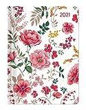 Ladytimer Midi Flowers 2021 - Taschen-Kalender 12x17 cm - Blumen - mit Mattfolie - Notiz-Buch - Weekly - 192 Seiten - Alpha Edition