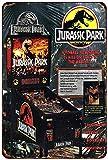 PotteLove Jurassic Park - Placa Decorativa de Metal (8 x 12 cm), diseño Vintage de Pinball