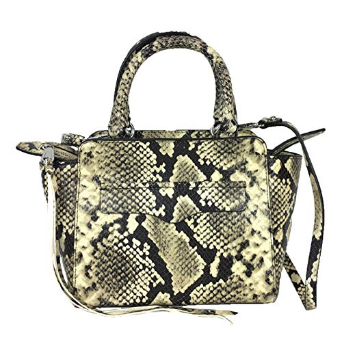 Rebecca Minkoff Avery Mini Tote Snake Embossed Leather Bag, Butter