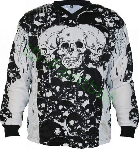 IDP Jersey The Skulls Schwarz Paintball Trikot Grösse L