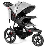 Costzon Baby Jogger Stroller, All Terrain Lightweight Fitness Jogging Stroller w/Parental Cup Phone Holder, Free Tractive Webbing, Large Storage Basket (Deluxe Black)