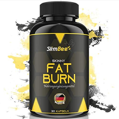 SLIMBEE - Fettverbrenner + Abnehmen - leicht und effektiv + Hergestellt in DE + Vegan + Nahrungsergänzungsmittel + 30 Kapseln + Geld-Zurück-Garantie!